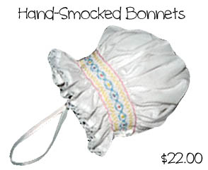 Hand Smocked Bonnets